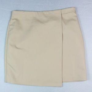 Philosophy Tan Faux Wrap Skirt Lined